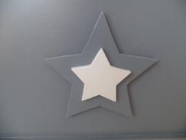 Speelgoedkist grijs met sterren