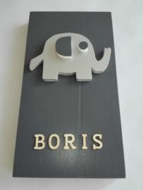Babycadeau box S/grijs olifant