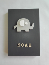 Babycadeau box M/grijs olifant