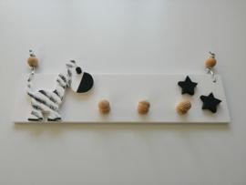 Kapstok zebra met kleine ster