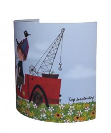 FIEP WESTENDORP wandlamp kraanwagen bloem Designed4kids