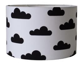 Hanglamp wolk zwart wit