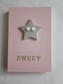 Babycadeau box M/roze ster
