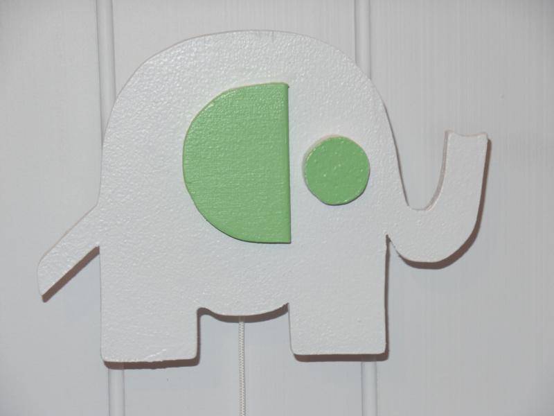 Muziekdoosje olifant groen