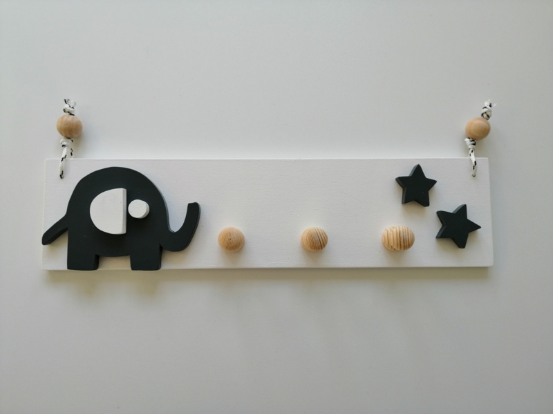 Kapstok olifant met kleine ster