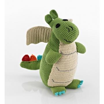 Pebble knuffel - Draak groen