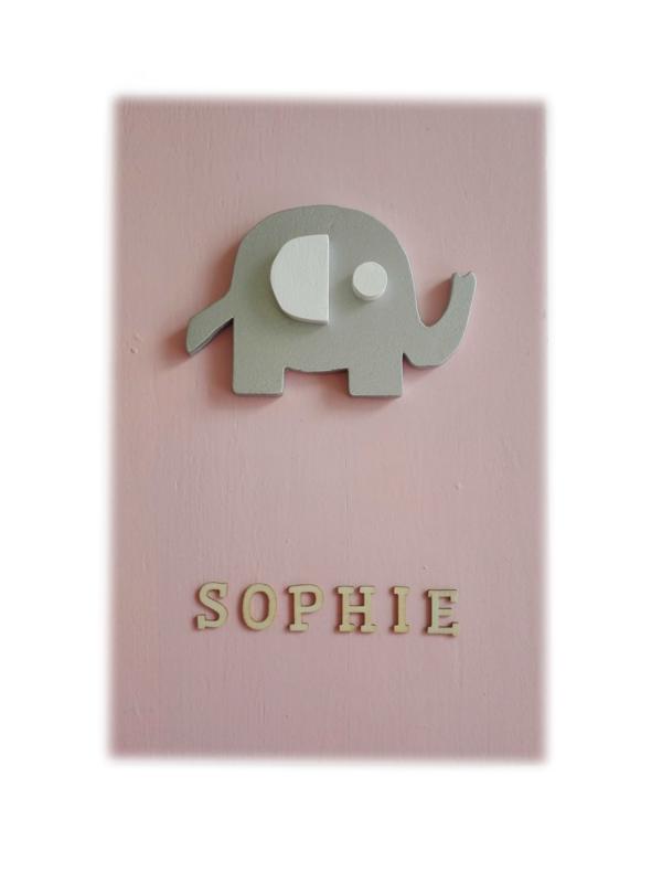 Babycadeau box M/ roze olifant