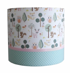 Wandlamp forest friends pastel