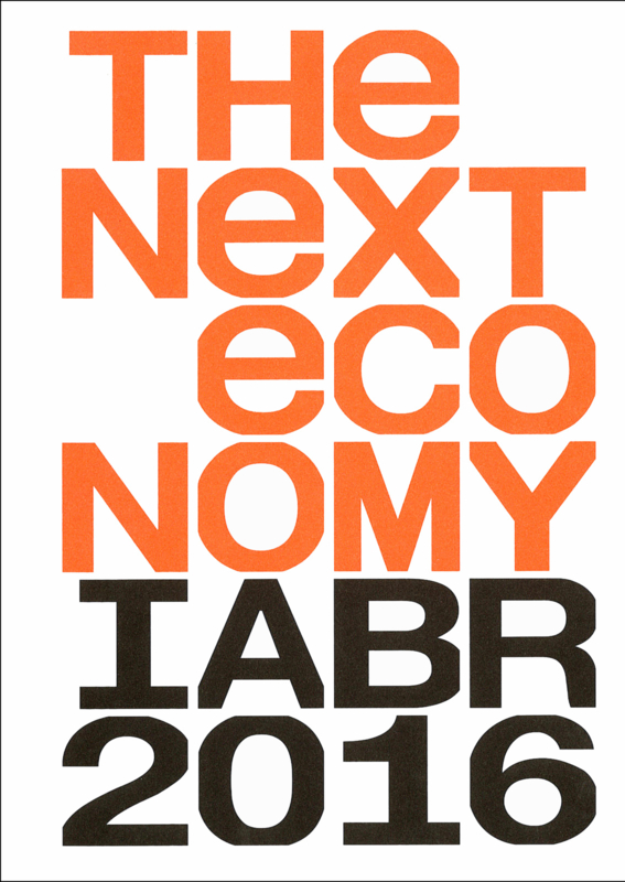 THE NEXT ECONOMY - CATALOGUS IABR–2016