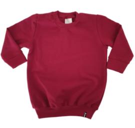 Sweater Jurk - Wijnrood