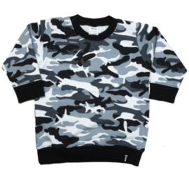 Sweater Jurk - Camo Zwart-Wit
