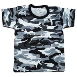 Baby shirt - Camo Zwart-Wit