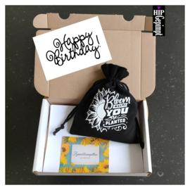 Bievenbuscadeau: Happy Birthday!