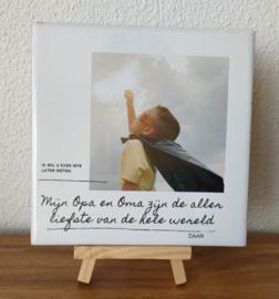 Tegel - foto en eigen tekst