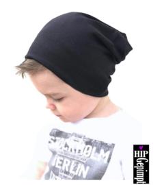 Kids beanie muts - zwart