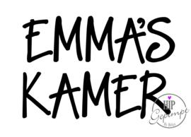 Hip Gepimpt - Kamer Naamsticker