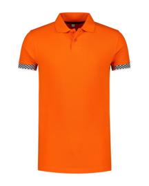 Oranje Polo FINISH vlag