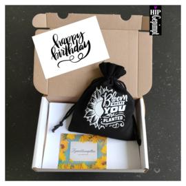 Bievenbuscadeau: Happy Birthday