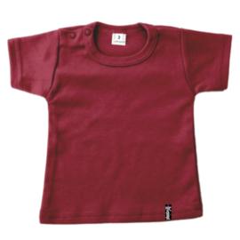 Baby shirt - Wijnrood