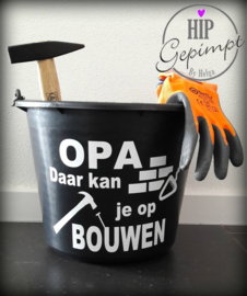 Sticker Bouwemmer Papa of Opa