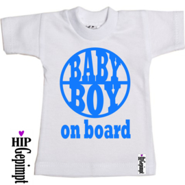 Mini Shirt - Baby boy on board