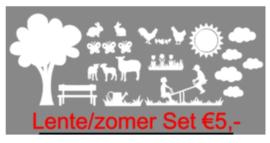 Lente / Zomer raamstickers