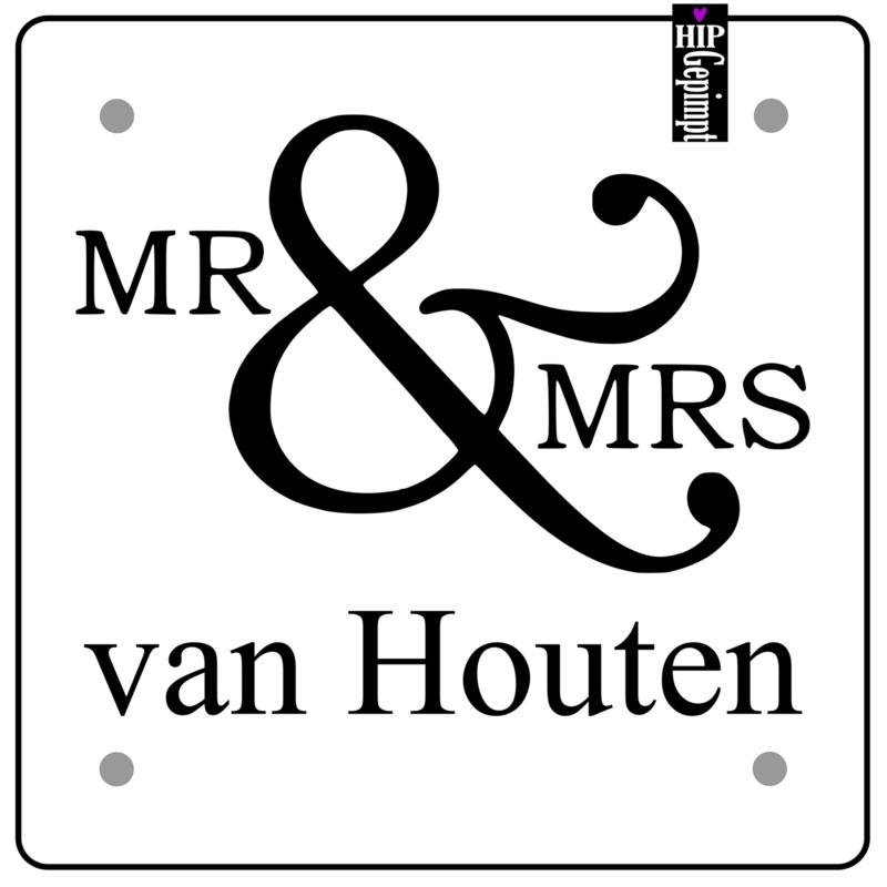 Naambord | Mr &Mrs