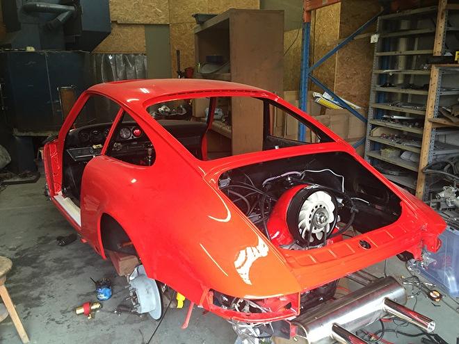 Porsche 912 in aanbouw