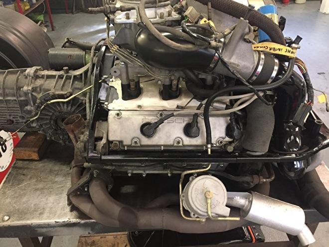 Porsche 930 Turbo motor met K-jetronic