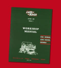 Land Rover Series I workshop manual petrol & diesel