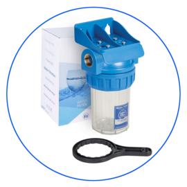 "Aquafilter , 3 part Filterhuis 5"" met support en sleutel FHPR5-34-WB - 3/4"""