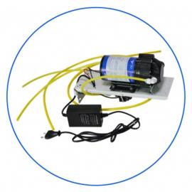 Boosterpomp 50 - 100 gpd op metalen support + switchen