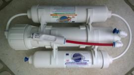 Osmosetoestel Rush Osmo 75 Compact 75 GPD 285 liter/dag ( optie : filmtec membraam)