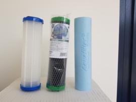 """Filterset , 3 vervangfilters voor Aquafilter Anti Bacteriele regenwaterfilter """"Petra"""" 3 staps"""