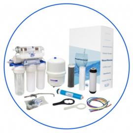 Zelfbouw huishoudelijk 7 staps osmosesysteem met opslagtank ,mineralentoevoeging en ioniserende cartridge. RX75139415