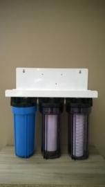 """Regenwaterfilter 3 staps, 3/4"""" aansluitingen.  (ENKEL OP BESTELLING !   LEVERING 10 WERKDAGEN )"""