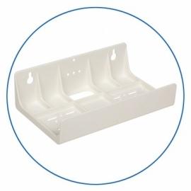 Muurplaat plastic voor 2 filterhuizen