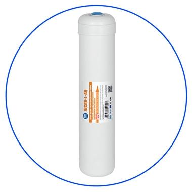 """In-line Carbon filter 2,5"""" AICRO-L-AQ met 1/4"""" NPT aansluitingen"""