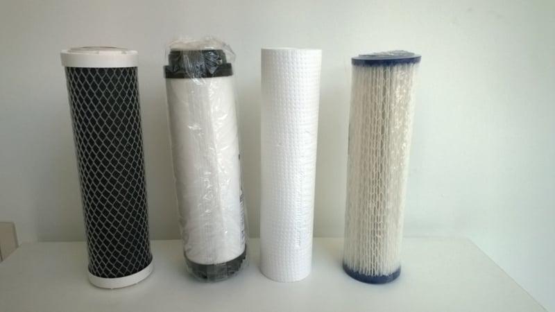 """Filterset , 4 vervangfilters voor Aquafilter - regenwaterfilter """"Rock"""" 4 staps - waterfilter"""