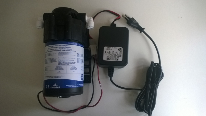 Boosterpomp 50 - 100 GPD + transformator