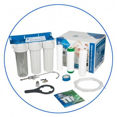 Système de filtration de l'eau du robinet en 3 étapes