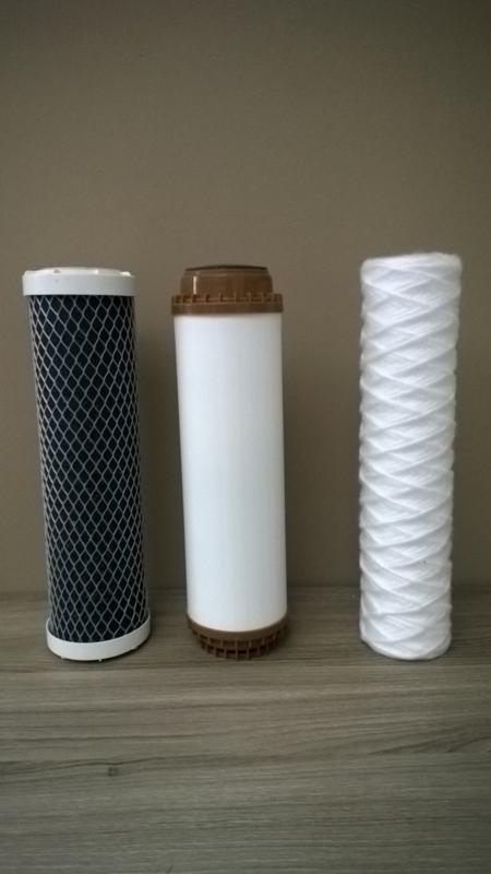 """Filterset , 3 vervangfilters voor Aquafilter - grondwaterfilter """"Kia"""" 3 staps - putwaterfilter"""
