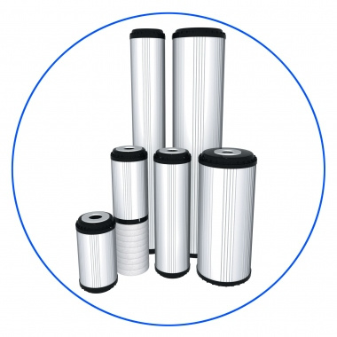 "GAC filter(Granular Activated Carbon) voor 10"" filterhuis."