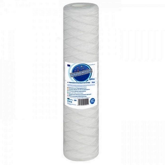 """Sedimentfilter Aquafilter  voor 10"""" filterhuis 5 micron van gedraaide koord FCPP5"""