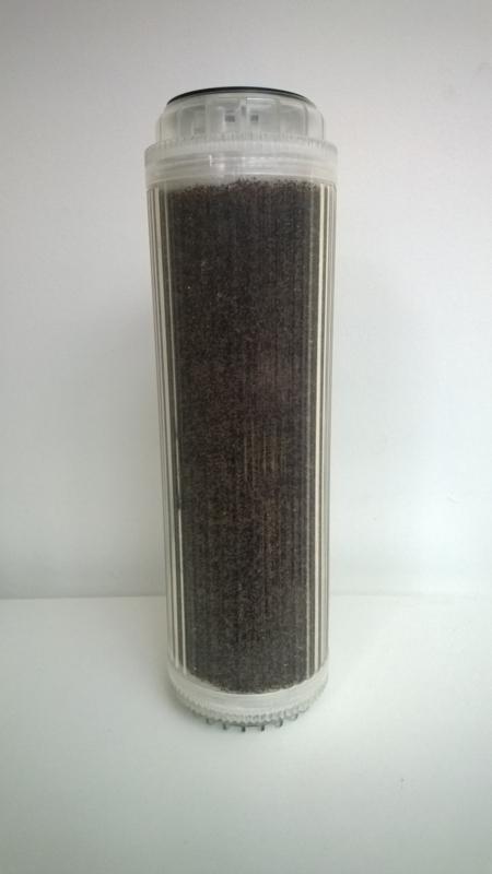 """Container voor 10"""" filterhuis gevuld met demineralisatiehars."""