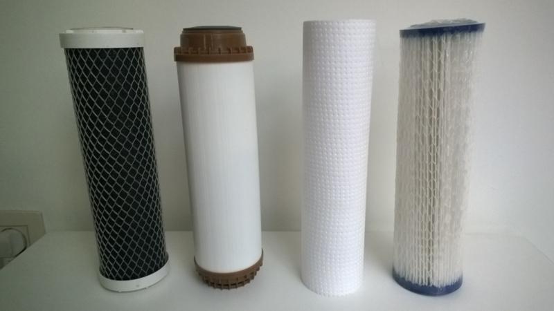 "Filterset , 4 vervangfilters voor Aquafilter - grondwaterfilter ""Brix"" 4staps - waterfilter - putwaterfilter"