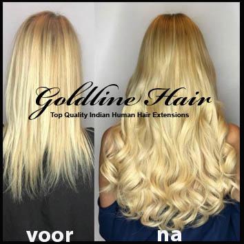 hairweft voor en na