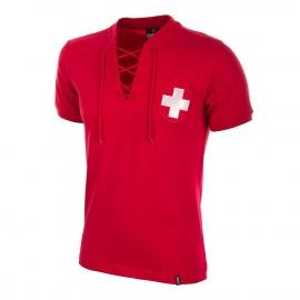 Retro Fussball Trikot Schweiz WM 1954