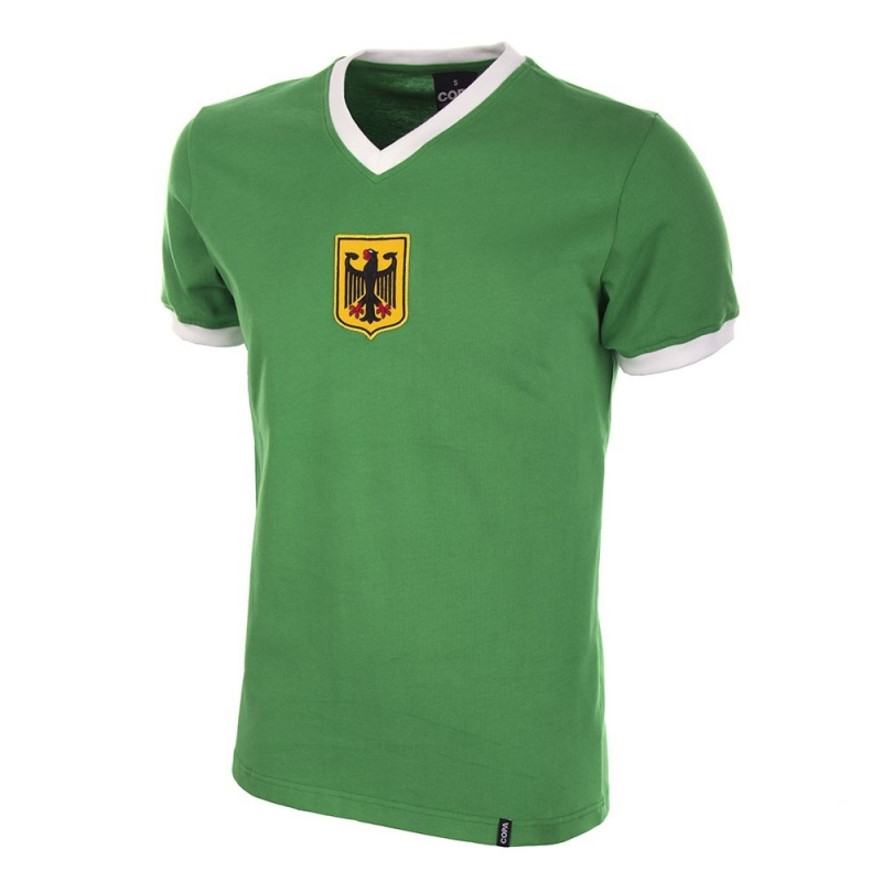 Duitsland Retro voetbalshirt jaren '70 uitshirt