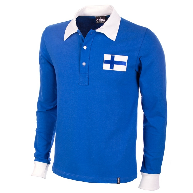 Finland Retro voetbalshirt 1955